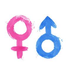 set of gender symbols vector image