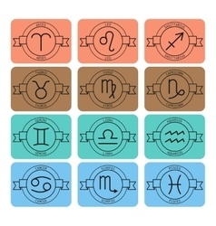 Signs of the zodiac for horoscope and predictions vector image