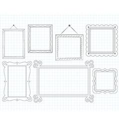Sketched Doodle Frames vector