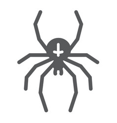 spider glyph icon animal and arachnid halloween vector image