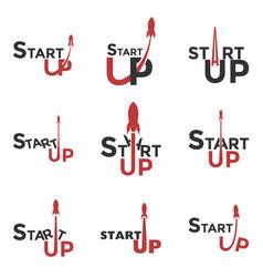 startup logo logo set for commencement of vector image