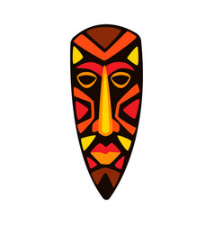 Stylized african mask vector