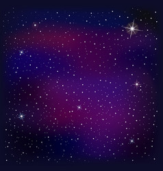 Universe with stars nebula and galaxy vector