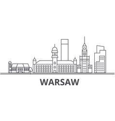 Warsaw architecture line skyline vector