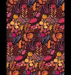 Watercolor seamless abstract botanical vector