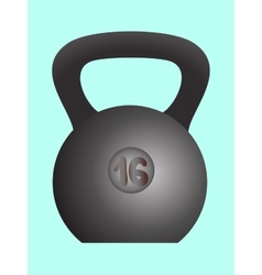 Weight sports equipment vector image