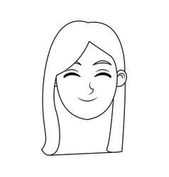 woman cartoon avatar profile picture female vector image