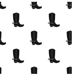 cowboy boots icon in black style isolated on white vector image vector image