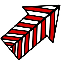 Direction arrow vector image vector image
