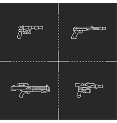 Fantastic weapons vector image