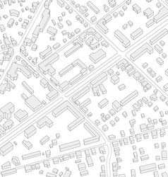 Imaginary city plan Isometric City background vector image