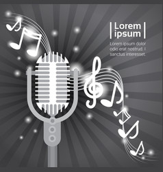 live music microphone banner colorful pop art vector image