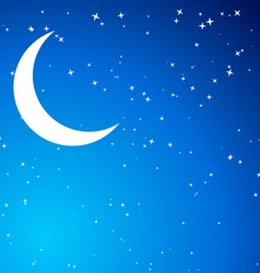 Night with moon vector