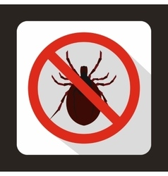 No bug sign icon in flat style vector image vector image