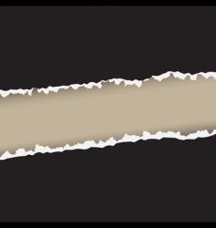 rough edges vector image