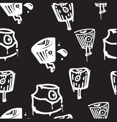 seamless pattern graffiti vector image