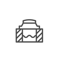 sewer hatch line icon vector image