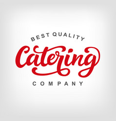 catering logo badge vector image