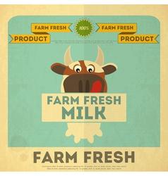 Cow milk poster vector