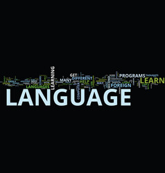 foreign language tips to improve your foreign vector image