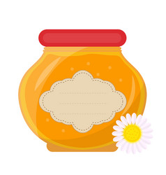 jar of honey icon flat style isolated on white vector image vector image