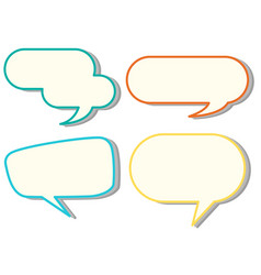 speech bubble templates in four colors vector image vector image