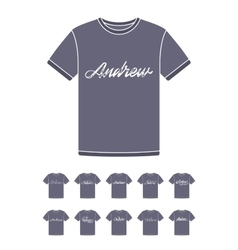 T-Shirt design with the personal name Andrew vector image vector image