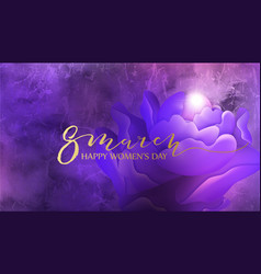 8 march background design with flower and pearl vector image vector image