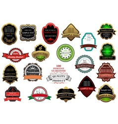 Decorative labels and banners set vector image