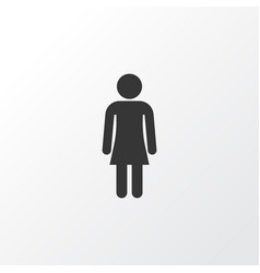 gentlewoman icon symbol premium quality isolated vector image vector image