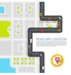 paved path on the road art vector image vector image