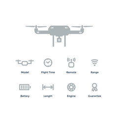 quadrocopter concept outline objects with vector image