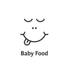 thin line baby food logo vector image vector image