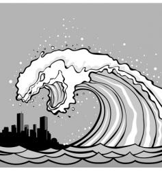 tsunami monster vector image