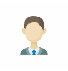 Avatar men brunette icon cartoon style vector image vector image