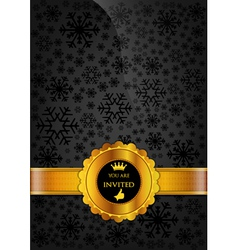 Black Invitation Design vector image vector image