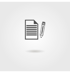 black sheet of paper and pencil icon vector image