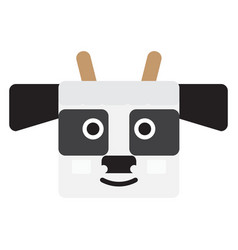 Isolated cow face vector