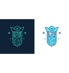 Linear style icon of a pirate vector image