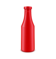 tomato ketchup bottle for branding without label vector image vector image