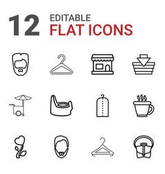 12 shop icons vector