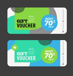 Abstract gift voucher or coupon design template vector