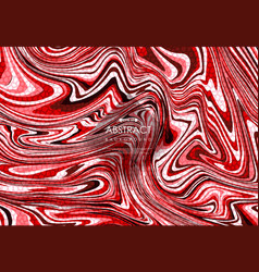 abstract red marble design with pattern vector image
