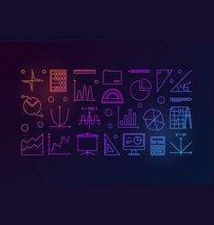 Algebra and mathematics colorful vector