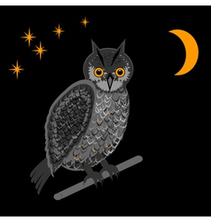 An owl in the nighttime vector