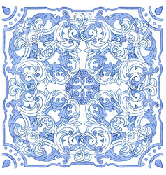 Azulejos portuguese watercolor vector