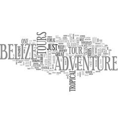 belize adventure tours text word cloud concept vector image