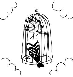 Birds pattern arts vector image