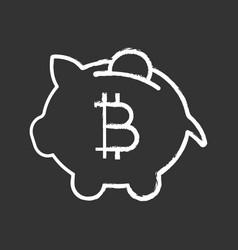 bitcoin deposit chalk icon vector image