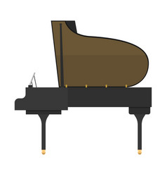 Black grand piano isolated vector